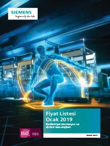Siemens Otomasyon Fiyat Listesi 2019